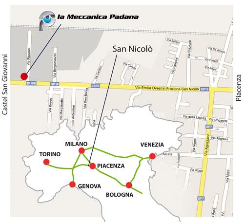 mappa ubicazione meccanica padana
